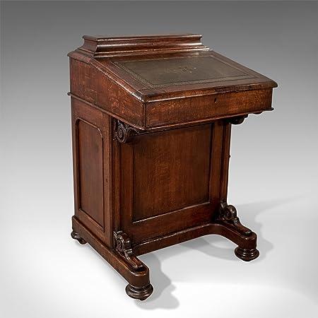 London Fine Antiques Victoriano Antiguo Davenport, Escritorio ...