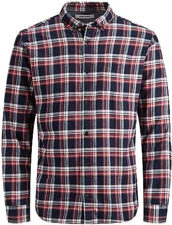 Jack & Jones Jjewashington Shirt L/S STS Camisa para Hombre