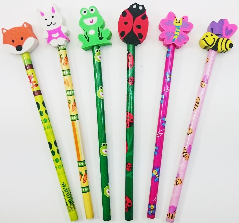 Cartoon Style Dinosaur Pencil Party Bag Toy x 6 Stocking Filler