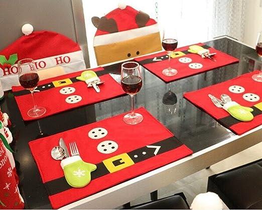 JINGBOSHI - Manteles de Navidad para Decorar mesas, Navidad ...