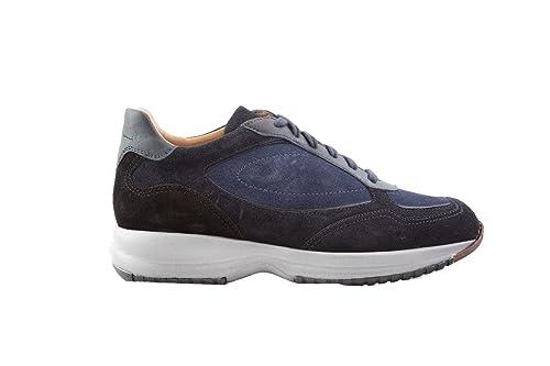 SANTONI Sneaker Uomo MOD. Daytona camoscio Blu (6)  Amazon.it ... 739d6a0d024