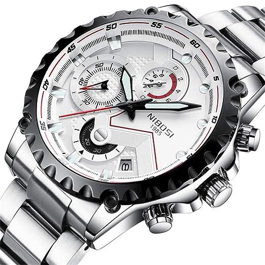 Nibosi - Reloj de Pulsera para Hombre, de Lujo, de Moda, Casual,