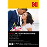 Kodak Ultra Premium Photo Paper, 4 x 6 Inches, High Gloss, 100 Sheets (1833987)