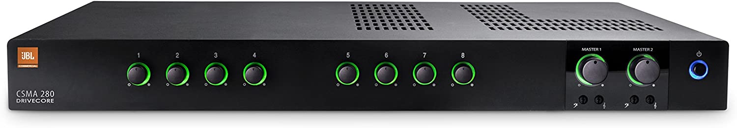 JBL Professional CSMA280 Commercial Series Two-Channel 80-Watt Powered Audio Mixer/Amplifier
