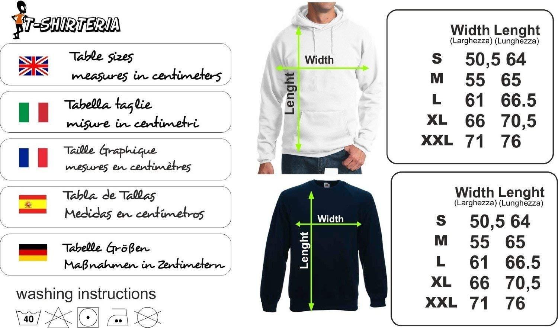 Sport Humor Evolution in Cotone t-shirteria Felpa con Cappuccio Biathlon Evolution Biathlon