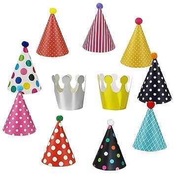 EQLEF® 11 PCS lindo sombrero de cumpleaños Coronas Set para ...