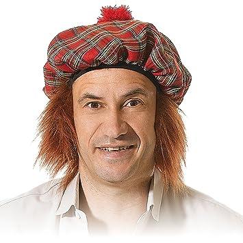 ee4186ebddfe3 Bristol Novelty BH124 Scots Tartan Hat with Ginger Hair, Mens, One Size:  Bristol Novelty: Amazon.co.uk: Toys & Games