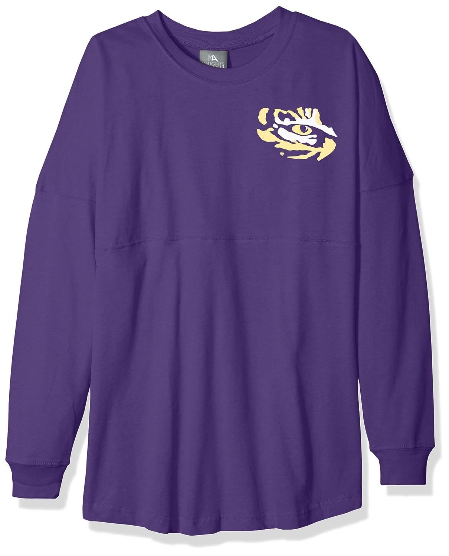 NCAA LSU Tigers Womens NCAA Womens Long Sleeve Mascot Style Teeknights Apparel NCAA Womens Long Sleeve Mascot Style Tee Large Ravens Purple