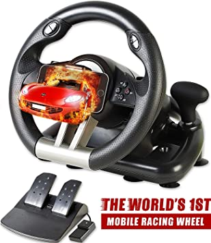 Serafim R1+ Volante de Carreras para Xbox One, PS4, PC, Switch, PS3, iOS, Android – Volante con