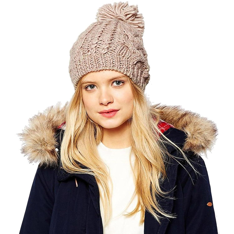Sweet Home Gorgeous Cannabis Winter Damen Strickmütze/Beanie/Mütze/Barett Mütze Ski Mütze braun