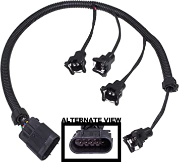 amazon.com: apdty 133624 fuel injector wiring harness upgrade (allows  simple upgrade of the 2.0l lsj ecotec turbo engine to use high flow ev1  ev-1 fuel injectors on 2005-2007 chevy cobalt ss saturn  amazon