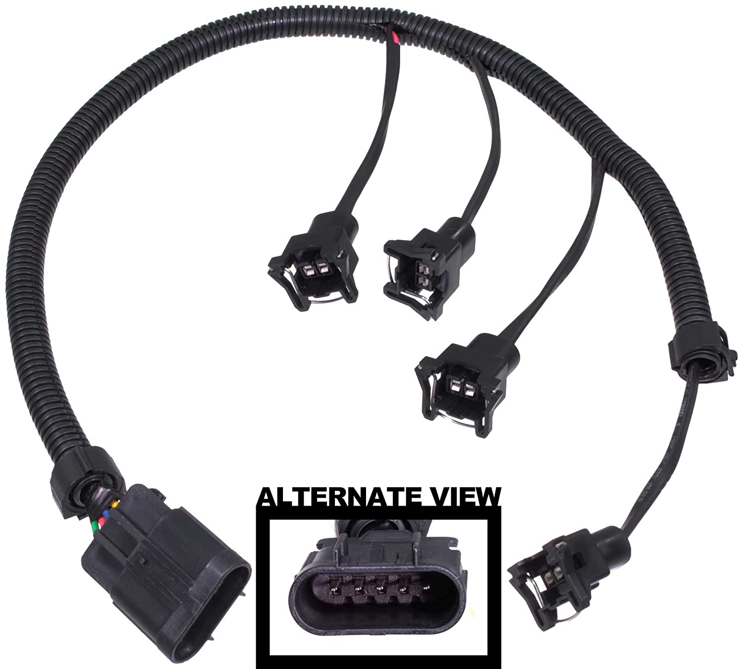 Amazon.com: APDTY 133624 Fuel Injector Wiring Harness Upgrade (Allows  Simple Upgrade Of The 2.0L LSJ Ecotec Turbo Engine To Use High Flow EV1  EV-1 Fuel ...