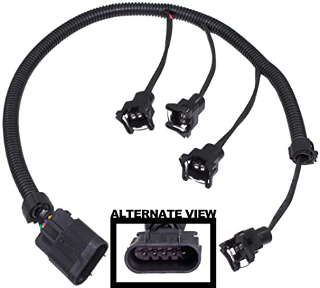 amazon com apdty 133624 fuel injector wiring harness upgrade Third Brake Light Wiring Harness apdty 133624 fuel injector wiring harness upgrade (allows simple upgrade of the 2 0l lsj