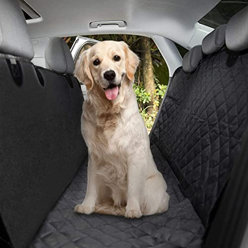 Dog Seat Cover Car Seat Cover for Pets 100 Waterproof Pet Seat Cover Hammock 600D Heavy Scratch-Proof Non-Slip Durable Soft Pet Back Seat Covers for Cars Trucks and SUVs