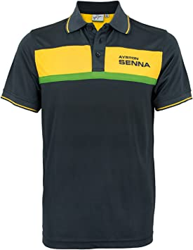 MBA-SPORT Ayrton Senna de Polo Camiseta Racing: Amazon.es: Ropa y ...
