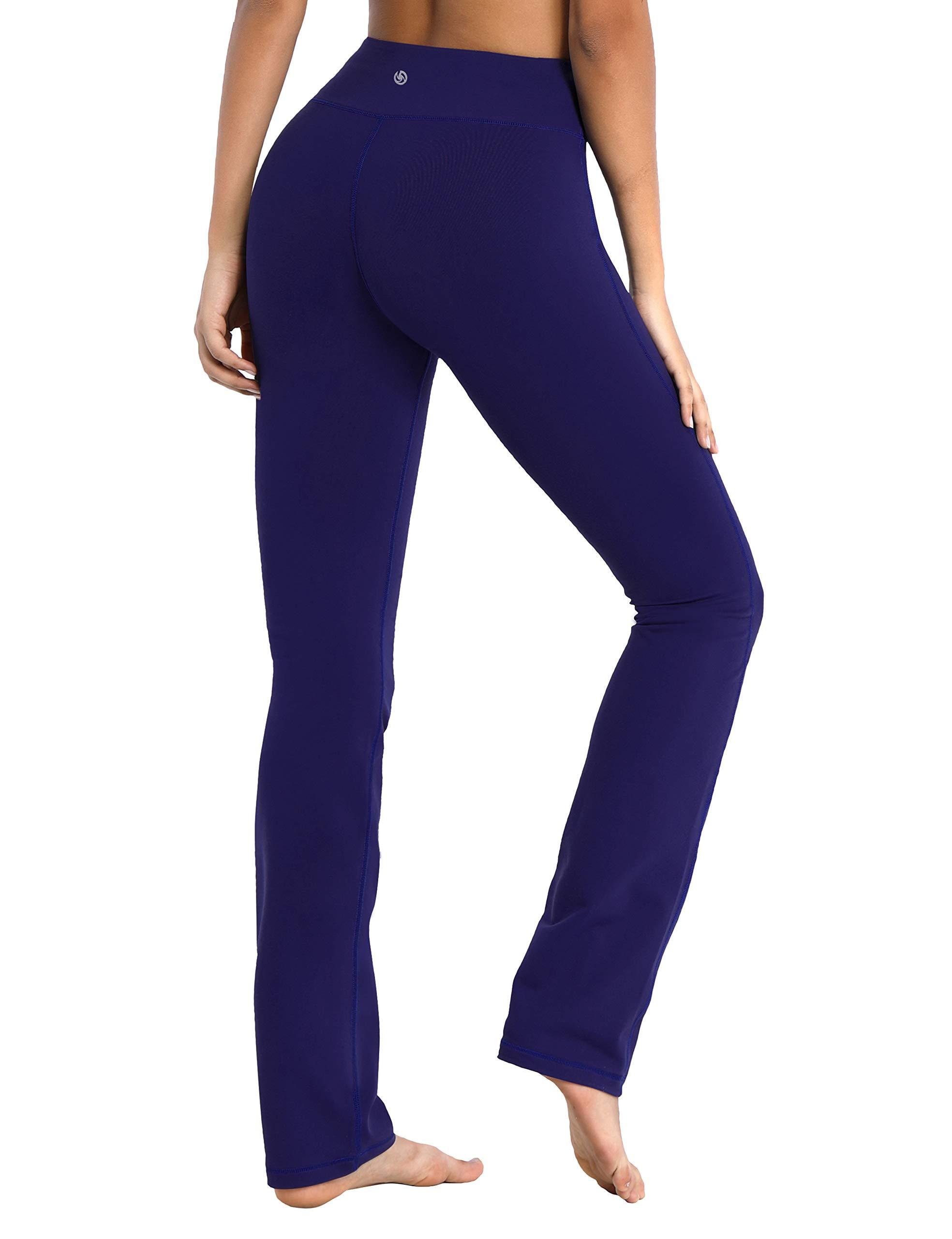 BUBBLELIME 29''/31''/33''/35'' Inseam Women's Straight Leg Yoga Pants Mid Waist Four Pockets Workout Leggings Moisture Wicking by BUBBLELIME