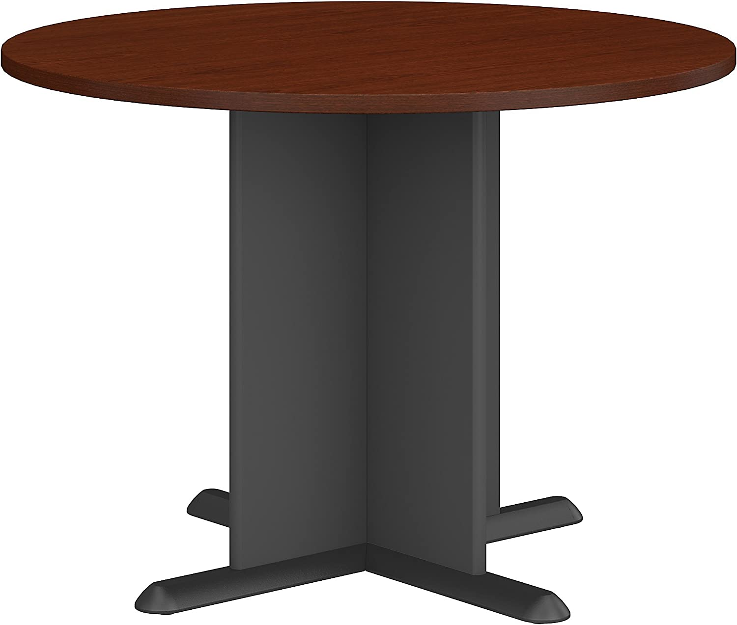 Bush Business Furniture Series A & C 42 Inch Round Conference Table in Mahogany