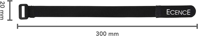 Universell zur Befestigung ECENCE Klettverschluss f/ür Kabel Schn/üre Kabelklett B/üro Gr/ö/ße 2cm x 30cm 14040307 Kabel 12er Set Kabelbinder-Klett f/ür Dr/ähte Klettband Kabelsalat