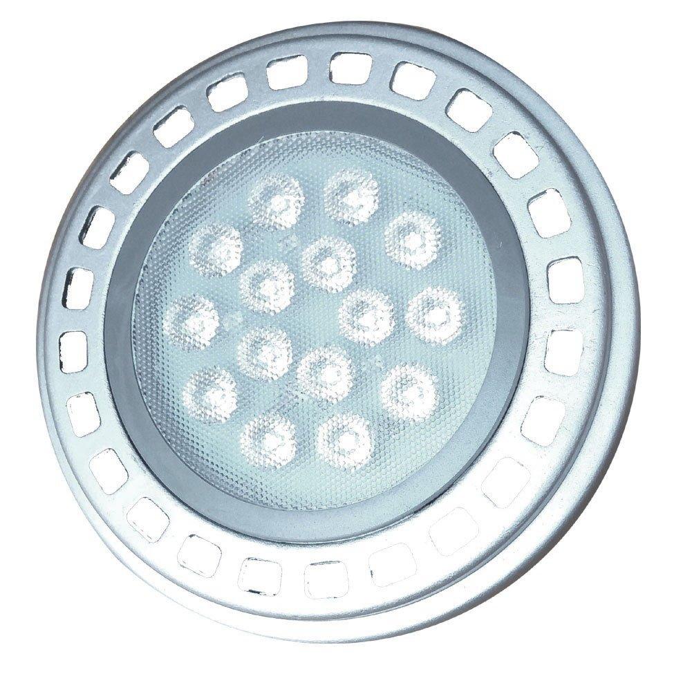 Led AR111 Bulb Spotlight 15W G53 30°Beam View Angle Cool Light 6000k-6500k SMD 15LEDs DC12V Spot Reflector Lights 1200Lm
