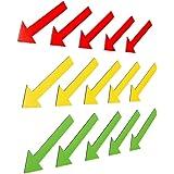 15magnetpfeile multicolores (5verte magnetpfeile/5Jaune magnetpfeile/5rouges magnetpfeile)/Longueur 6cm/par exemple pour les Experts, des présentations, des projet travail, enseignement..