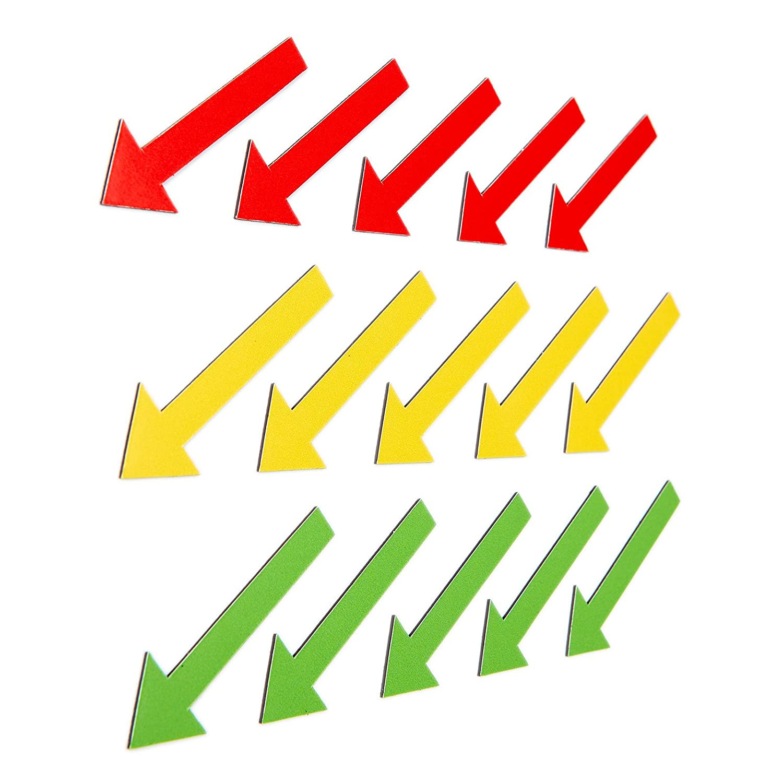 15colorato magnetpfeile (5magnetpfeile Verde magnetpfeile/5Giallo/5rossi magnetpfeile)/6cm di lunghezza/z.B. per esperti, presentazioni, progetto lavoro, lezioni.. Iposit GmbH