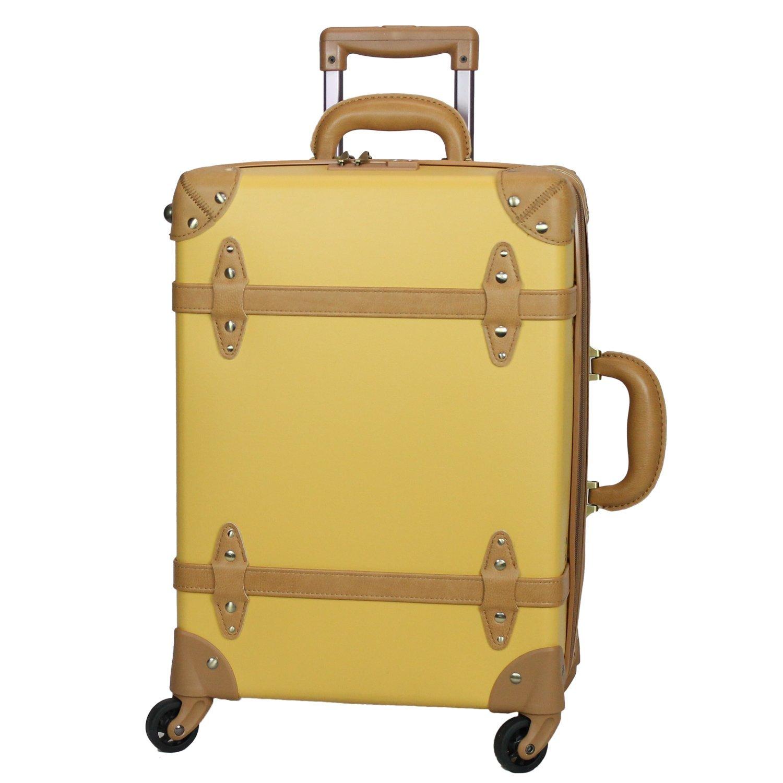 MOIERG(モアエルグ) 軽量 キャリーバッグ 容量UP YKK使用 キャリーケース スーツケース 3年保証 B06XHMLFFD M|マスタード マスタード M