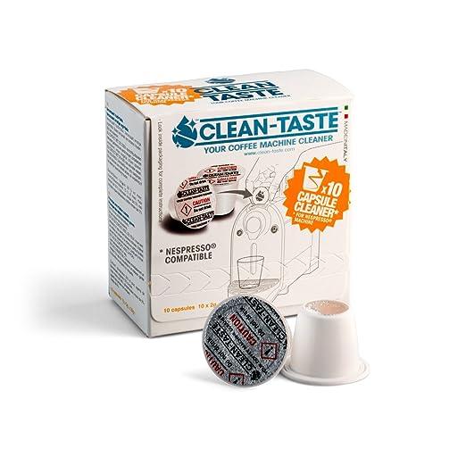 Clean de botón 10 x Cápsulas Nespresso cafeteras de cápsulas ...