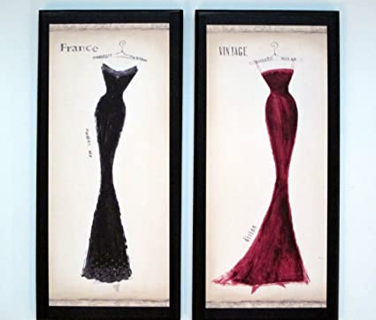 Remarkable Milan Dresses Paris Couture Wall Decor Plaques French Ladies Bedroom Bathroom Download Free Architecture Designs Scobabritishbridgeorg