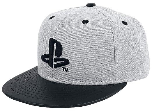PlayStation Logo Cap Grey-Black  Amazon.co.uk  Clothing a63d0edff74e