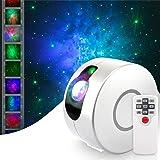 Projetor de luz noturna HugeHard com controle remoto, projetor de galáxia de céu estrelado rotativo 360, projetor de estrelas