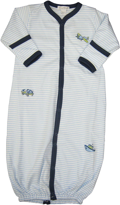Kissy Kissy Baby-Boys Infant Away We Go Stripe Convertible Gown