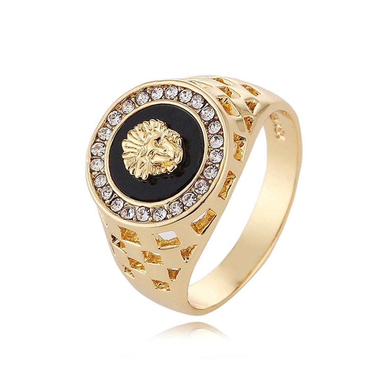 Beauty Top 2018 Women Men Wild Diamond Lion Head Ring 02