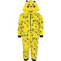 Pokemon Pikachu Yellow 3D Ears Onesie Kids Sleep Suit