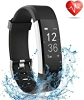 Lattie Fitness Tracker with Heart Rate Monitor, Smart Watch Activity Tracker Pedometer Sports Bracelet with Sleep...