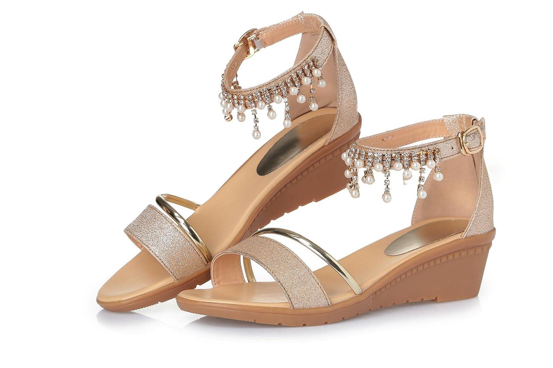 Verano – Sandalias Sandalias Zapatos suaves suelo Guantes de diamante, 37 die silbernen|37