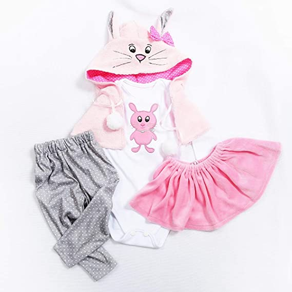 HUADOLL Reborn Baby Dolls Clothes for Girl Reborn Doll (for 22