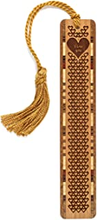 product image for I Love You Hearts, Engraved Wooden Bookmark with Tassel - Search B071G41HDP For Personalized Version