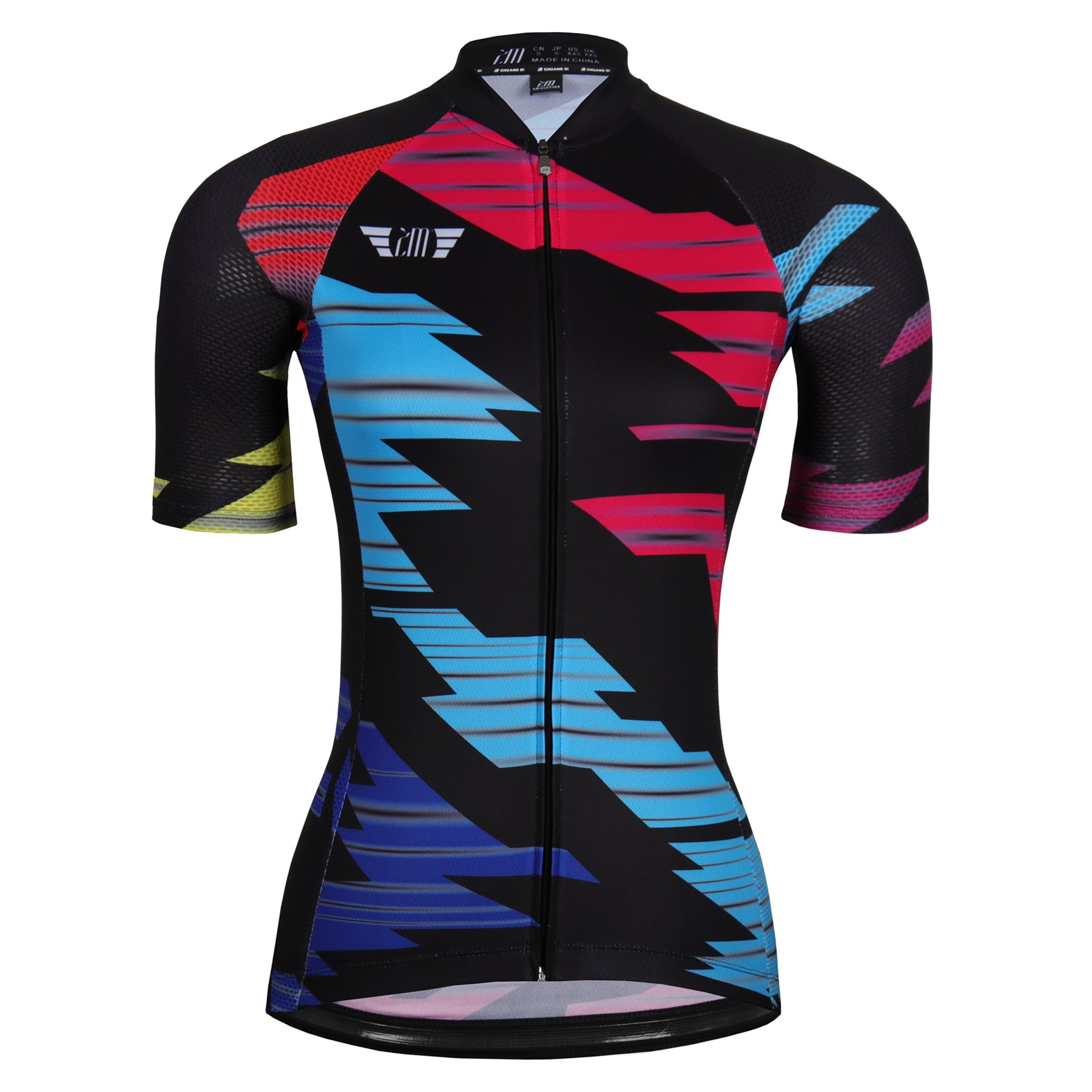 zm Floral Short Sleeve Bicycle Cycling Jersey For Women by ZM