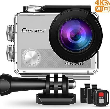Crosstour Action Cam 4K 16MP Ultra HD WiFi Impermeabile 30m