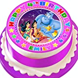 ALADDIN JASMINE PERSONALISED PRECUT EDIBLE BIRTHDAY CAKE TOPPER DECORATION