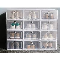 Transparent Shoe Organizer Box - Larger / Bearing Storage - Mens / Womans Shoes (12)