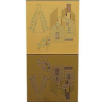dikley plantillas de corte diseño de metal plantilla para repujado molde DIY álbum de recortes Tarjeta de papel: Amazon.es: Juguetes y juegos