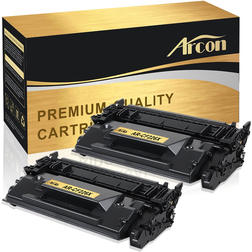 Arcon 2 Packs High Yield Compatible for HP 26X CF226X M402n Toner Cartridge for HP Laserjet Pro MFP M426fdw M426dw M426fdn M426, HP Laserjet Pro M402n M402dw M402dn M402d M402, HP 26A CF226A Printer