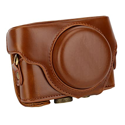 Just New Pu Leather Camera Case For Sony Rx100 Rx100 Ii Iii Rx100 Iv V Rx100 Vi Camera Bag Cover With Strap Digital Gear Bags