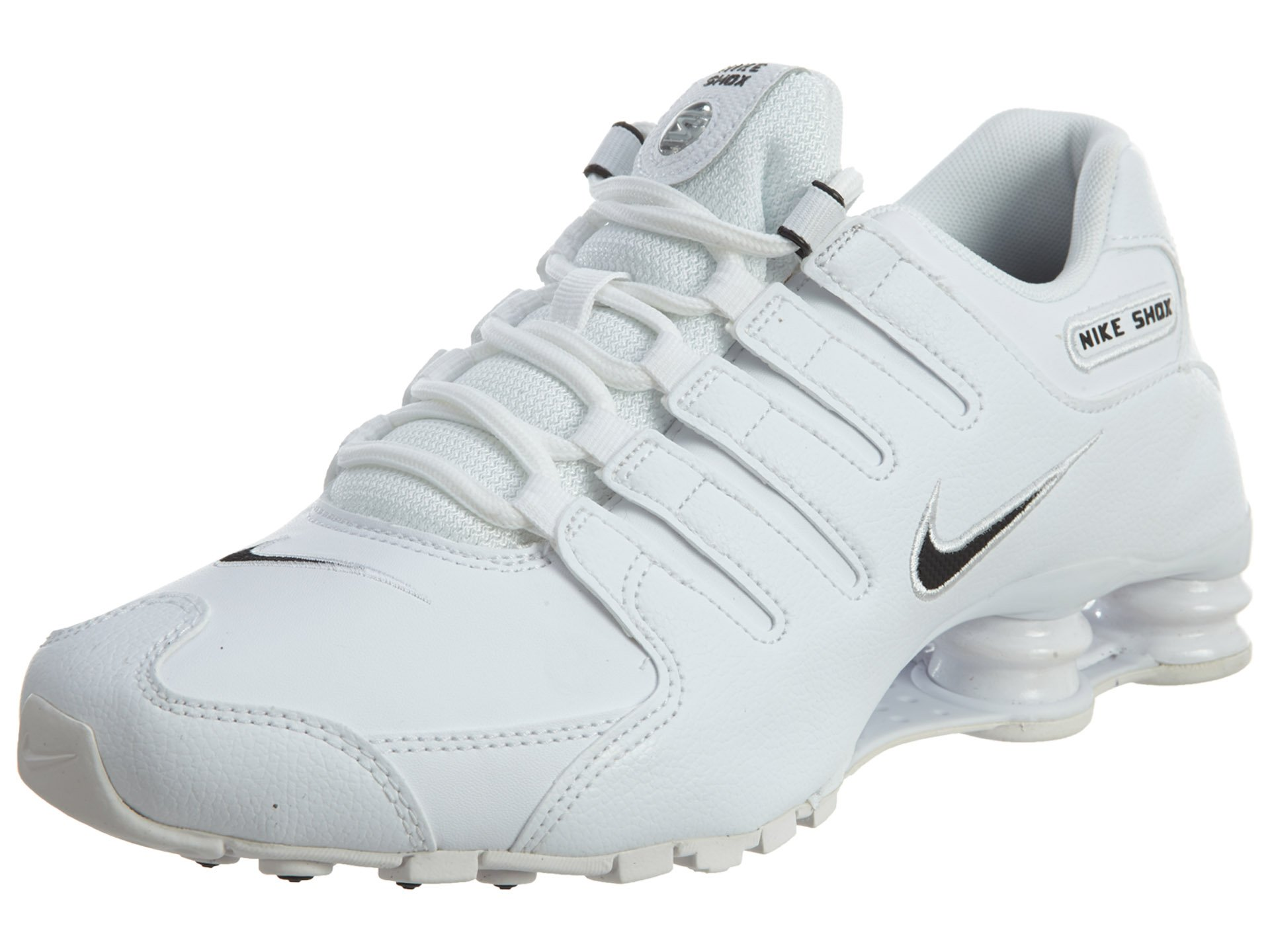Galleon - Nike Men s Shox NZ Running Shoe White   Black - White - 9 D(M) US 741acc17f48f
