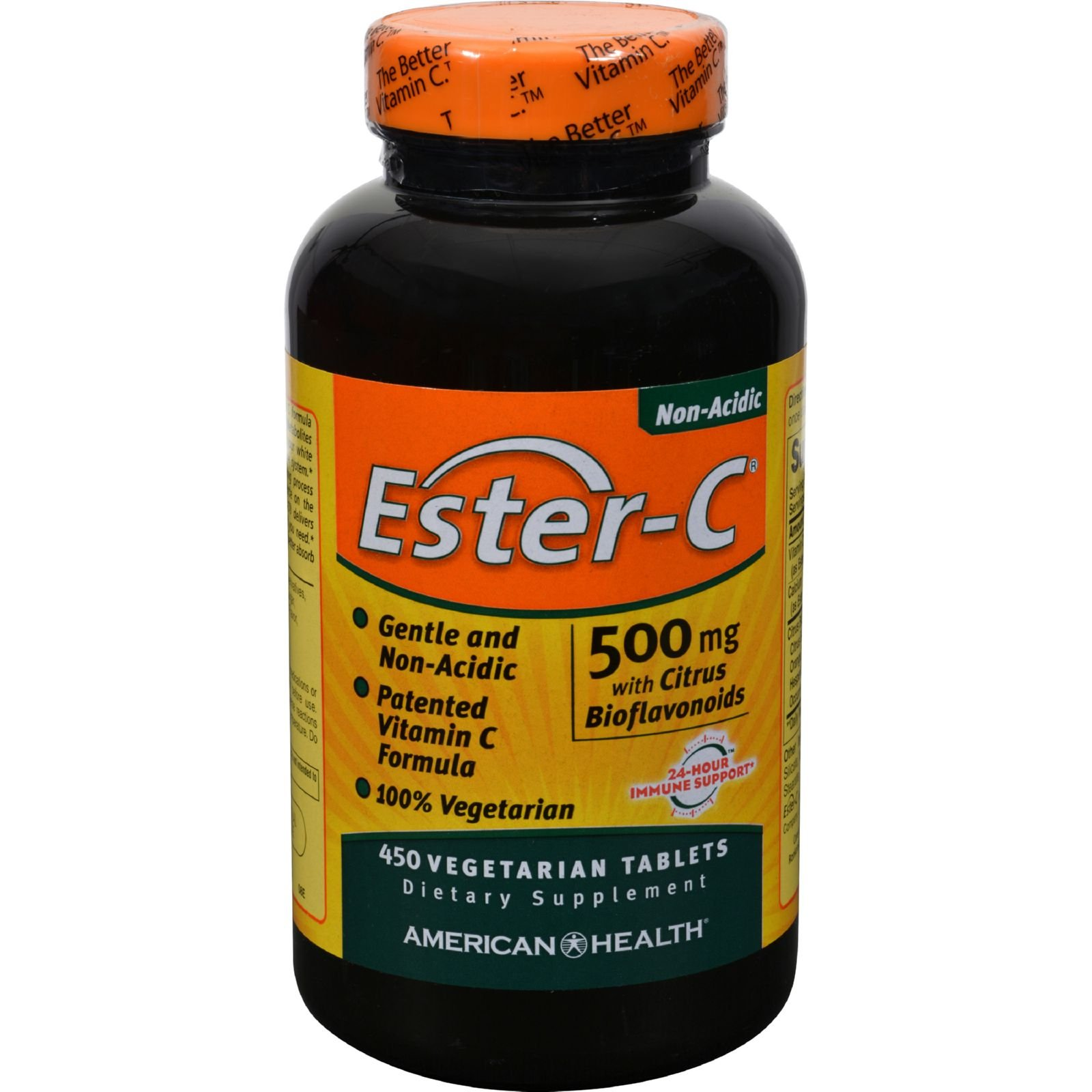 4 Pack of American Health Ester-C with Citrus Bioflavonoids - 500 mg - 450 Vegetarian Tablets - - -