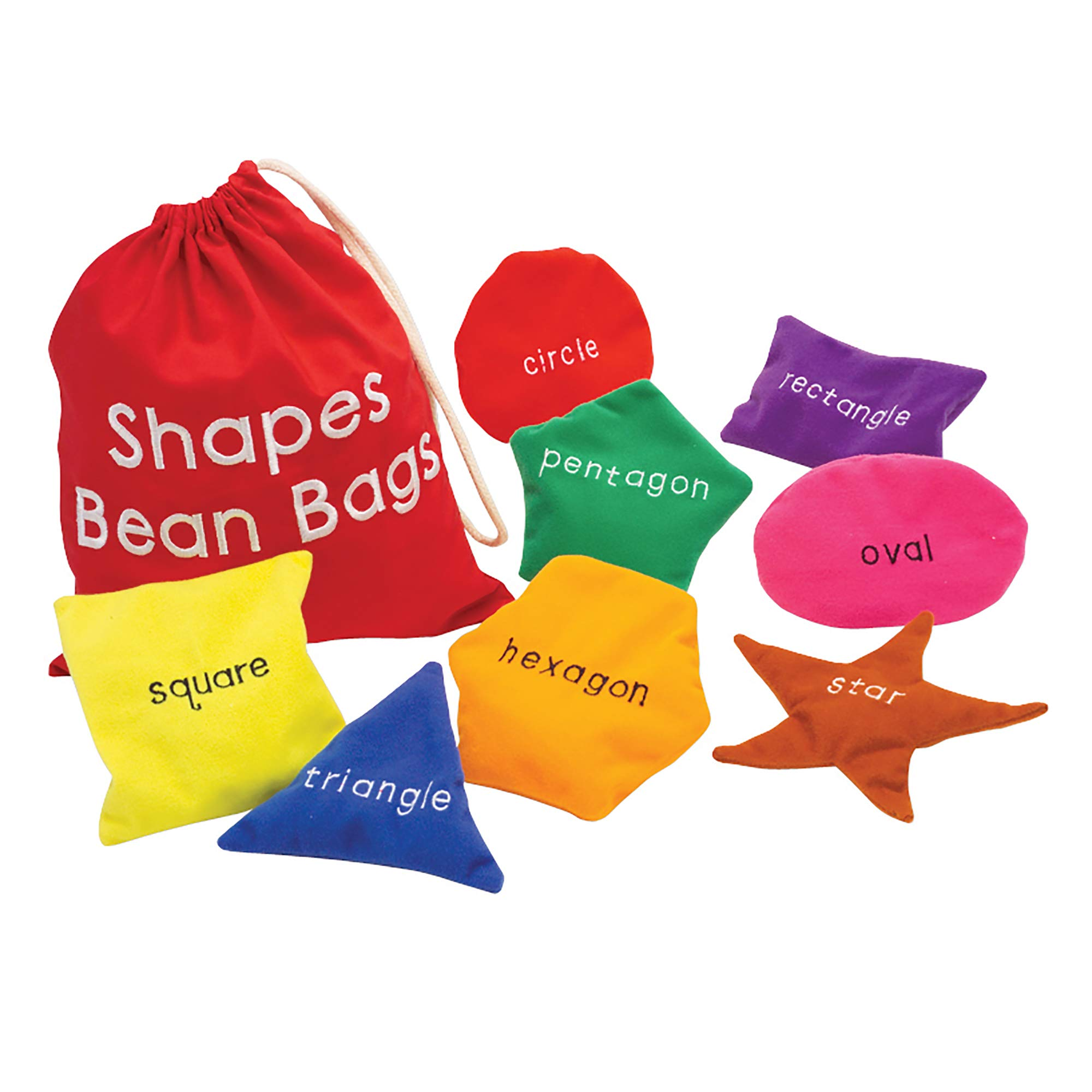 Educational Insights Shapes Beanbags Set of 8, Learn Shapes, Toddler Toys, Preschool Toys, Sensory Toy for Ages 3+