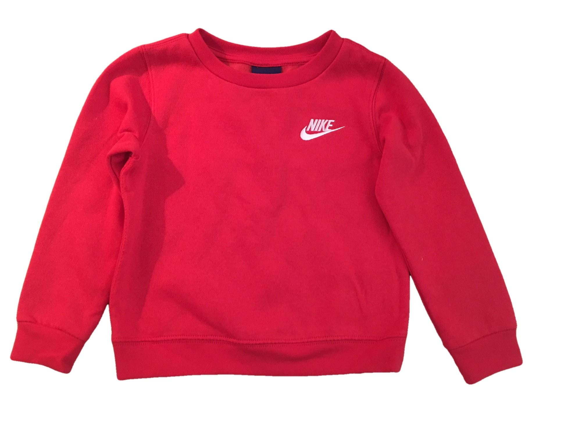 NIKE Infant Toddler Pullover Sweatshirt Top (2T, Red) by Nike