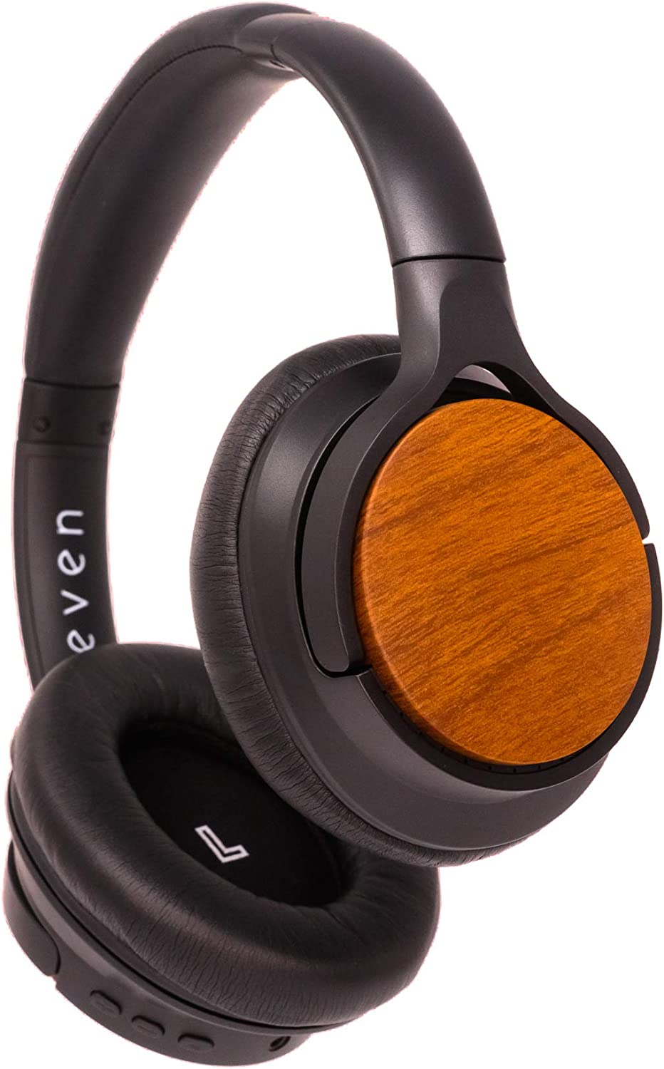 EVEN H4 Over Ear Bluetooth Headphones, Personalized Audio, Built-in Mic, Wireless, 20+ Hours of Battery Life, Wood Grain Finish