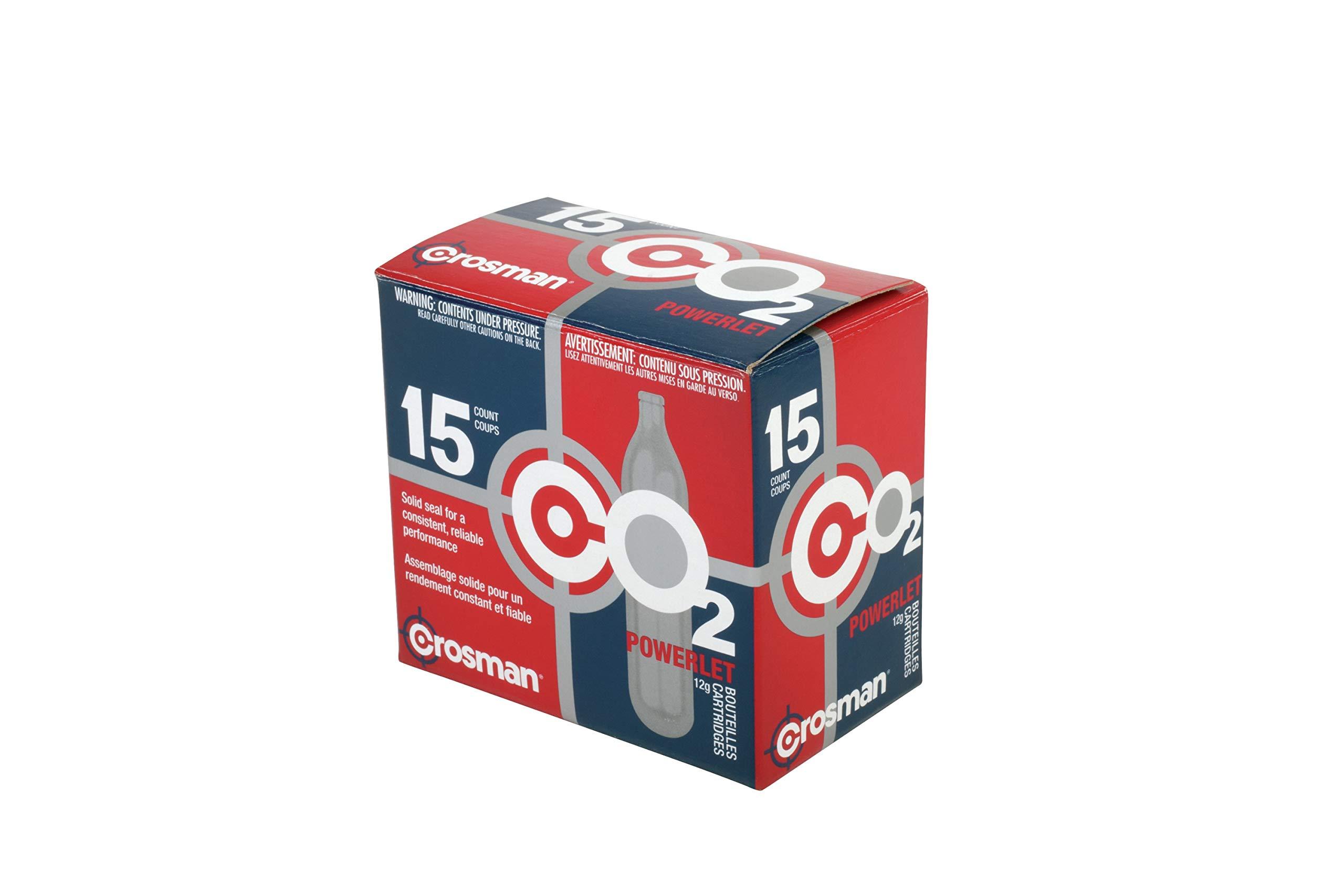 Crosman 12 Gram CO2 Cartridges - Pack of 40 by Crosman
